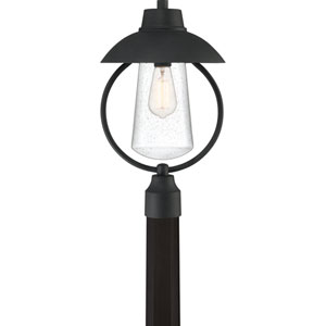 East Bay Mottled Black One-Light Outdoor Post Mount