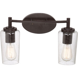 Edison Western Bronze Two Light Bath Fixture