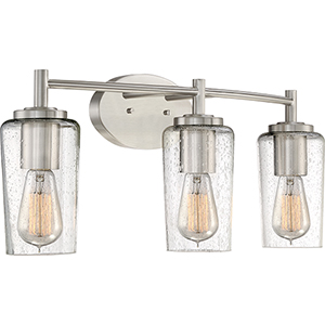 Edison Brushed Nickel Three-Light Bath Vanity