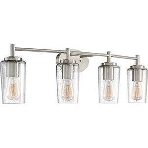 Edison Brushed Nickel Four-Light Bath Vanity