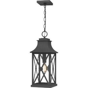 Ellerbee Mottled Black One-Light Outdoor Pendant
