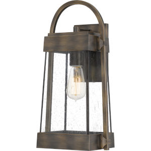 Ellington Statuary Bronze 17-Inch One-Light Outdoor Lantern with Clear Seedy Glass