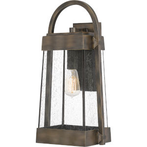 Ellington Statuary Bronze 20-Inch One-Light Outdoor Lantern with Clear Seedy Glass