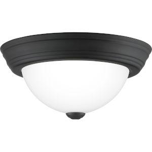 Erwin Matte Black 11-Inch One-Light Flush Mount