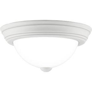 Erwin White Lustre 11-Inch One-Light Flush Mount