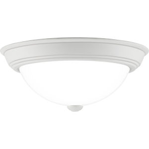 Erwin White Lustre 13-Inch Two-Light Flush Mount