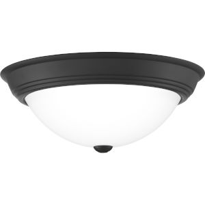 Erwin Matte Black 15-Inch Three-Light Flush Mount
