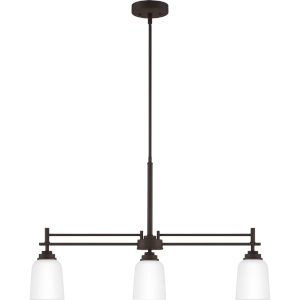Foley Old Bronze 32-Inch Three-Light Linear Chandelier