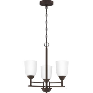 Foley Old Bronze 18-Inch Three-Light Chandelier