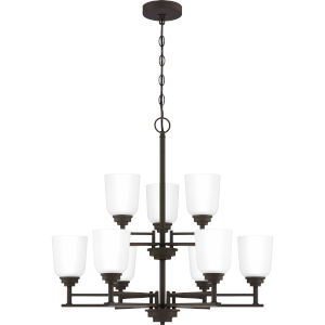 Foley Old Bronze 28-Inch Nine-Light Chandelier