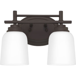 Foley Old Bronze 12-Inch Two-Light Bath Vanity