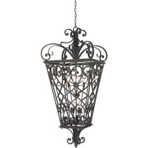 Fort Quinn Marcado Black Eight-Light Outdoor Pendant
