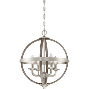 Fusion Brushed Nickel Four-Light Pendant
