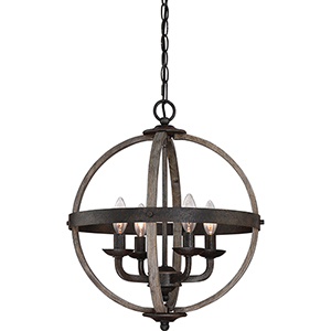 Fusion Rustic Black Four-Light Pendant