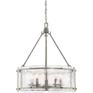 Fortress Mottled Silver Five-Light Pendant