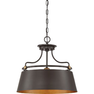 Fairview Western Bronze Three-Light Pendant
