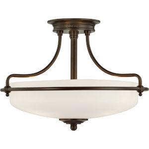 Griffin Palladian Bronze Three-Light Semi-Flush