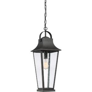 Galveston Mottled Black One-Light Outdoor Pendant