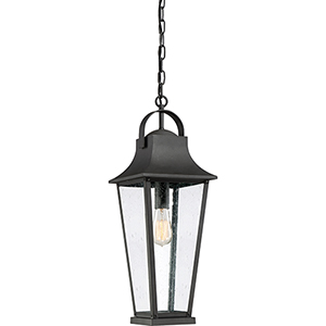 Galveston Mottled Black One-Light Outdoor Pendant