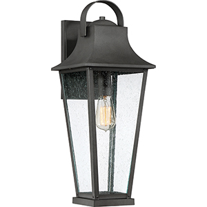 Galveston Mottled Black 22-Inch One-Light Outdoor Wall Sconce