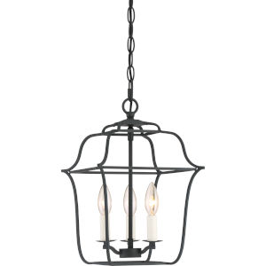 Gallery Royal Ebony 10-Inch Three-Light Pendant