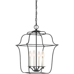 Gallery Royal Ebony 14-Inch Four-Light Pendant