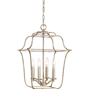 Gallery Century Silver Leaf Four-Light Pendant