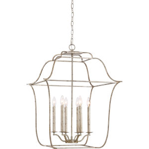 Gallery Century Silver Leaf Six-Light Pendant