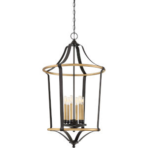 Highgate Western Bronze Six-Light Pendant