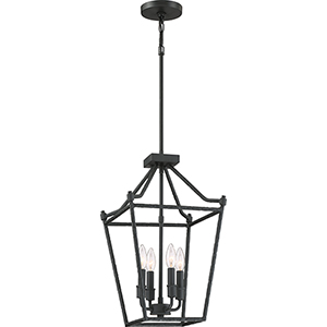 Hammerton Earth Black Four-Light Pendant