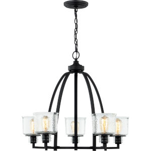 Holden Earth Black Five-Light Chandelier