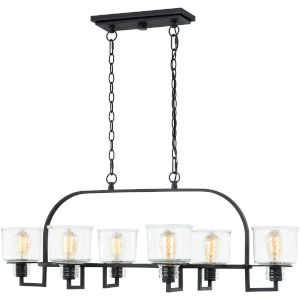 Holden Earth Black Six-Light Chandelier