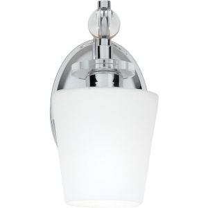 One-Light Polished Chrome Hollister Bath Fixture