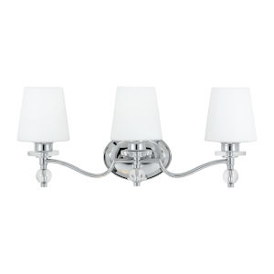 Three-Light Polished Chrome Hollister Bath Fixture