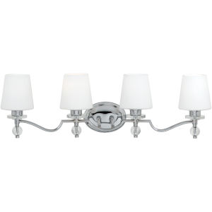 Four-Light Polished Chrome Hollister Bath Fixture
