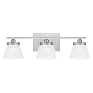 Hunley Brushed Nickel Three-Light Bath Vanity