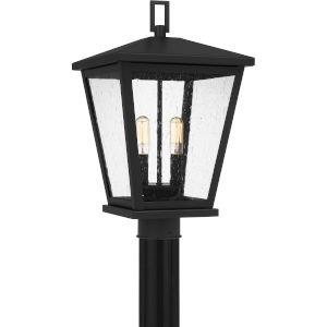 Joffrey Matte Black Two-Light Outdoor Post Mount