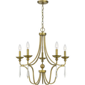 Joules Aged Brass Five-Light Chandelier