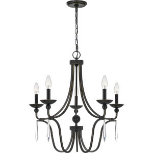 Joules Palladian Bronze Five-Light Chandelier