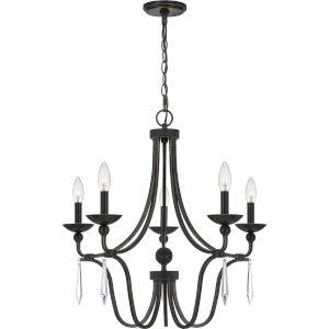 Joules Palladian Bronze Five-Light Chandelier