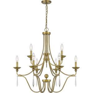Joules Aged Brass Nine-Light Chandelier
