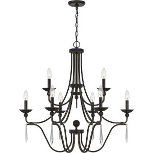 Joules Palladian Bronze Nine-Light Chandelier