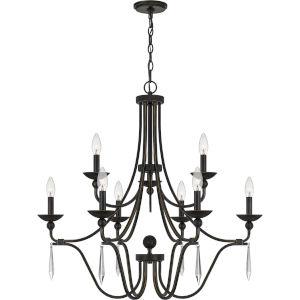 Joules Palladian Bronze Nine-Light Chandelier
