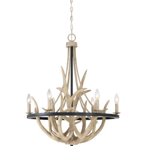Journey Earth Black Six-Light Chandelier