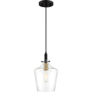 June Earth Black One-Light Mini Pendant