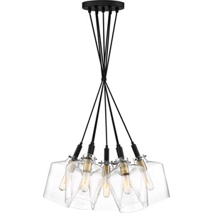 June Earth Black 25-Inch Seven-Light Pendant