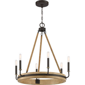 Kearney Western Bronze Six-Light Chandelier