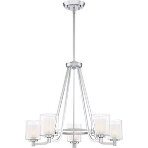 Kolt Polished Chrome Five-Light Chandelier