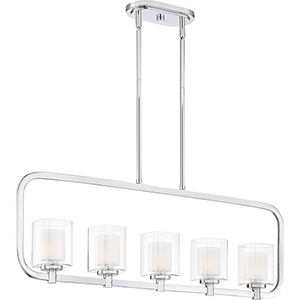 Kolt Polished Chrome Five-Light Linear Pendant