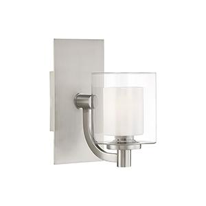 Kolt Brushed Nickel One-Light LED Bath Sconce